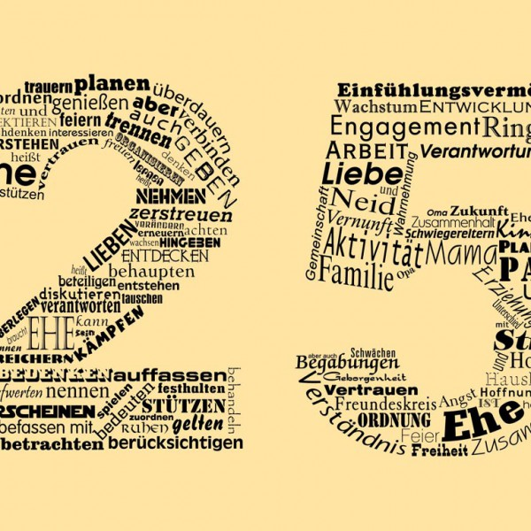Thumbnail for Silberhochzeitskarte
